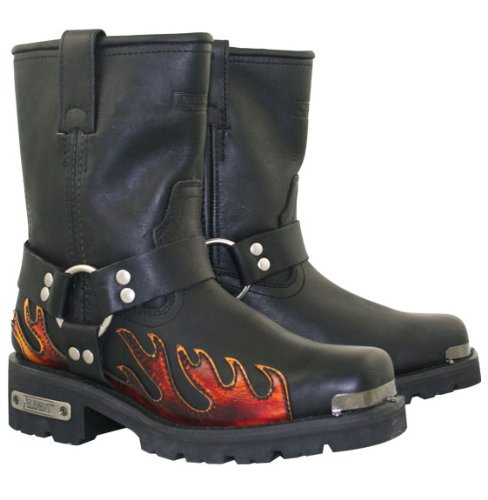 Xelement Womens Harness Flame Motorcycle Boots