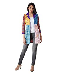 Vintage Earth People Women's Cotton Long Sleeve Jacket(SS15PCHJKTALZ500, Multicolor, XX-Small)