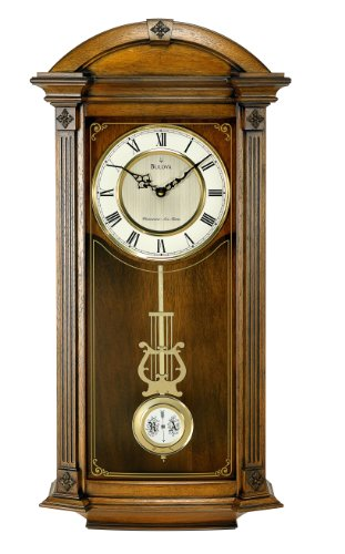 Bulova C4331 Hartwick Old World Clock, Walnut Finish