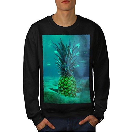 Underwater Pineapple Sea Fruit Men NEW Black M Sweatshirt | Wellcoda (Sea Creature Pasta compare prices)