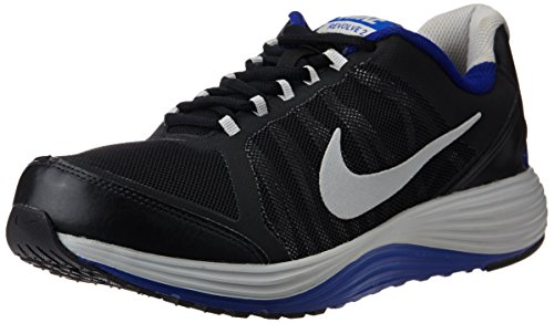 Nike Mens Revolve 2 Black,Metallic Silver,Deep Royal Blue Running Shoes - 7 UK/India (41 EU)(8 US)