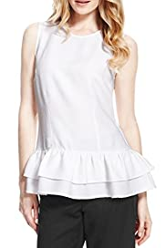 Textured Peplum Top [T50-9131-S]