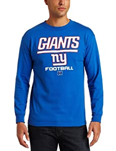 NFL York Giants Critical Victory V Long Sleeve Basic Tee Men's by NFL