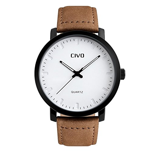 civo-mens-brown-leather-band-analogue-quartz-wrist-watch-mens-30m-waterproof-luxury-classic-business