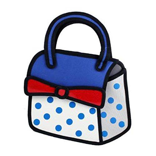 NUOLUX 3D Bowknot Decor dessin animé comique Handbag