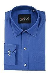 ROGUE URBAN WEAR Men's Formal Shirt (ROG2TONE17RYLBLU_M, Blue, Medium)