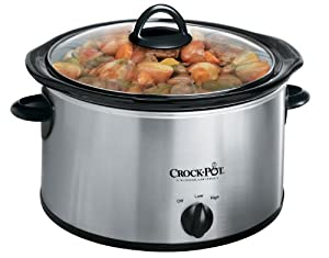 Crock-Pot 3040-BC 4-Quart Round Manual Slow Cooker, Stainless Steel by Crock-Pot