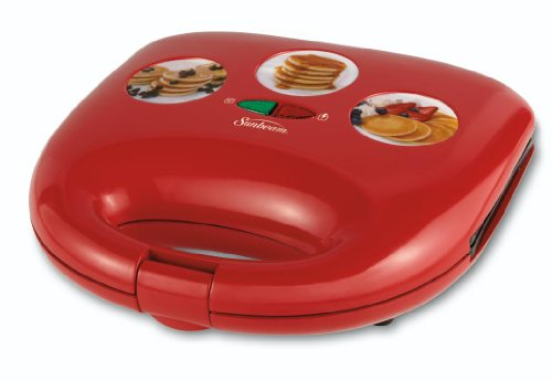 Sunbeam Cksbwfmp25 Mini Pancake Maker, Red front-571046