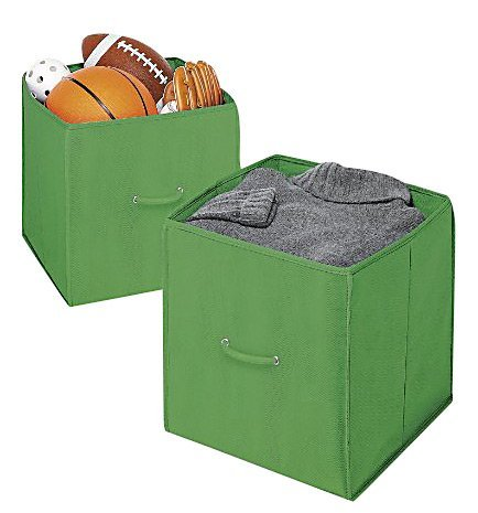Whitmor 6351-909-2 Green 14-Inch Collapsible Cube, 2-Pack - 1