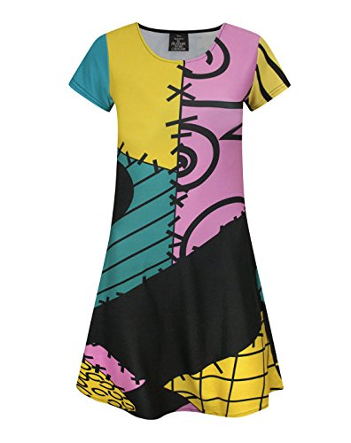 Official Nightmare Before Christmas Sally Costume Girl's Dress (7-8 Years)