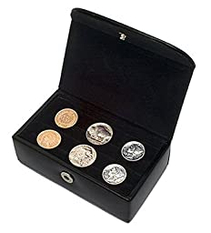 Tokens & Icons 3 Pair Cufflinks Travel Case (803)