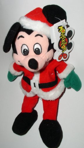 Mousekeytoys Santa Mickey Mouse Mini Bean Bag by Disney - 1