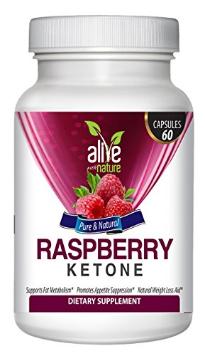 Alive With Nature Raspberry Ketones, Weight Loss Supplement And Appetite Suppressant, 1200 Mg,Paleo Diet, Dr Recommended, Raspberry Keytones Review, Apple Cider Vinegar, African Mango, Kelp, Acai Fruit, Green Tea Extract, Raspberry Ketone Diet, 60 Capsule