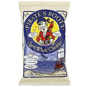 Pirate's Booty Shells and Cheese Aged White Cheddar 1 Ounces (Case of 24) (Pirate Booty Mac And Cheese compare prices)