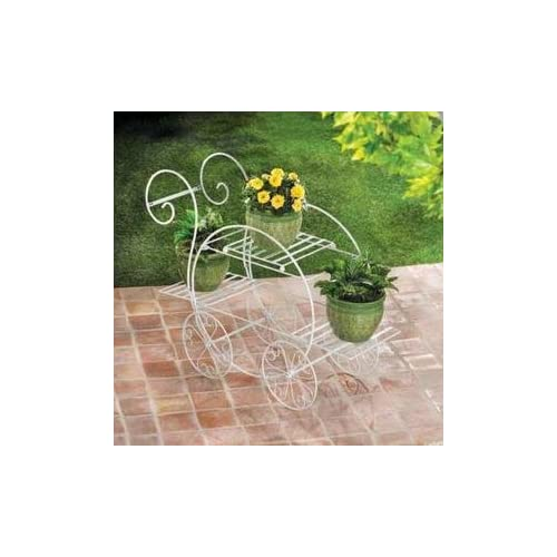 FRENCH FLOWER CART GARDEN PLANT STAND VENDOR CART