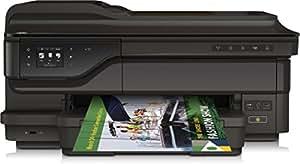 Hewlett Packard OfficeJet 7612 All-in-One Farbdrucker (Drucker, Kopierer, Scanner, Fax, bis 4800 x 1200 dpi, 6,8 cm (2,7 Zoll) LCD-Display, RJ-45/-11, USB 2.0) schwarz