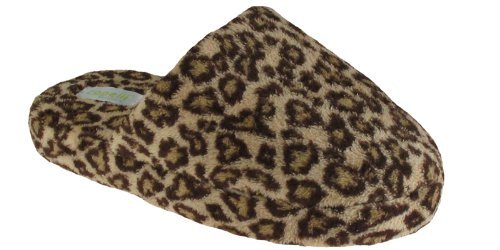 Cheap Capelli New York Small Scale Leopard Printed Microcozy Scuff Ladies Indoor Slipper (B005MJZ3BA)