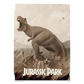 Jurassic Park Poster Art Print By Matt Ferguson (MSP 0011)