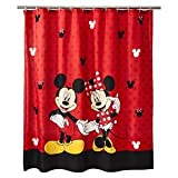 Disney Mickey and Minnie Fabric Shower Curtain
