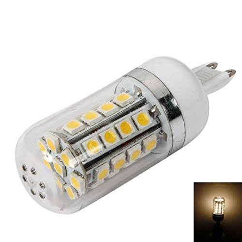 Dimmable Bulbs - G9 7W 36Leds Smd5050 6000-6500K White Light Dimmable Led Corn Light Bulb With Translucent Shade (85-265V)