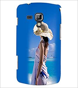 PrintDhaba Hat Girl D-2445 Back Case Cover for SAMSUNG GALAXY S DUOS S7562 (Multi-Coloured)