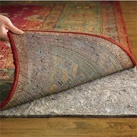 Set of two 3'x5' MSM Grip It Duo Lock Non Slip Reversible Rug Pads - Includes RPFL (TM) Rug and Pad Care Guide