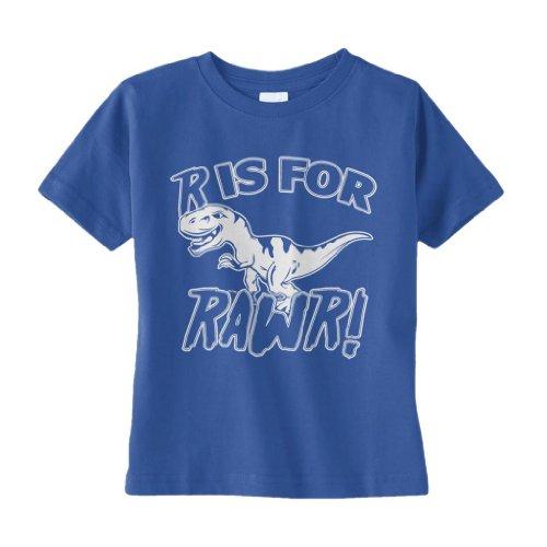 Threadrock Little Boys' R Is For Rawr (T-Rex) Toddler T-Shirt 2T Royal Blue front-1024550
