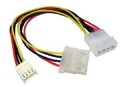 Internal Molex LP4 to Floppy Drive FDD Power Connector Cable [HiConn]