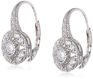 .925 Sterling Silver Cubic-Zirconia Round Shaped Earrings