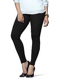 Generic Women's Cotton Leggings(KRAG006_Black_Free Size)