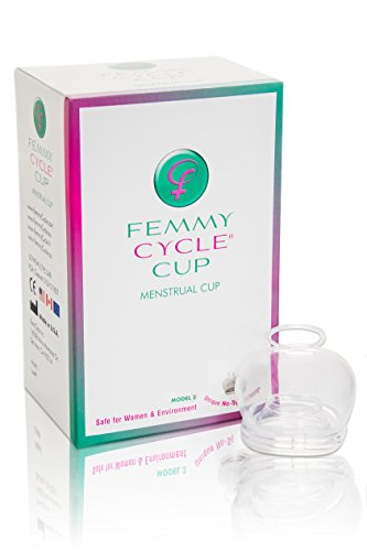 FemmyCycle Menstrual Cup Low Cervix Size - No Spill Design using Highest Quality Medical Grade Silicone for Comfort, Durability and A Peace of Mind. Reusable, Eco-Friendly, and BPA Free. Patented, Awarded, FDA Approved and Made in the USA