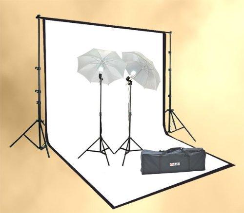 ePhoto ULS69B/W Photography Lights Studio Video Lighting Portable Film Video Lighting Kit and Support System (Black)