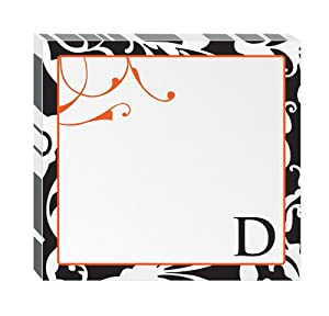 "Post-it Notes, Super Sticky Pad,3 1/4"" x 3 1/2"", Monogram ""D"", 75 Sheets per Pad, 2 Pads per Pack (6335-D2-BC)"