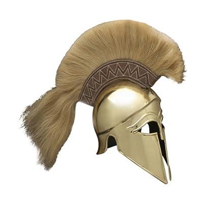 Armor Venue Italic Corinthian Greek Helmet (Brass) with Plume - One Size - Brass