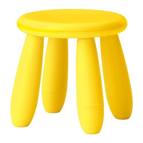 Ikea Mammut Childrens Light Yellow Stool Amubog