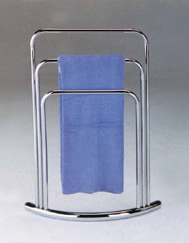 Kings Brand Chrome Finish Towel Rack Stand (Floor Standing Towel Rack compare prices)