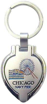 Chicago Keychain - Navy Pier Picture Locket, Chicago Keychains, Chicago Souvenirs