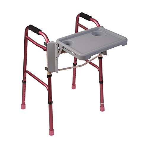 DMI Folding Walker Tray With Cup Holders, Gray (Bariatric Walker Tray compare prices)