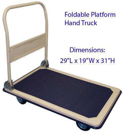 330 Lb Heavy Duty Platform Hand Truck Cart 330lb Cap