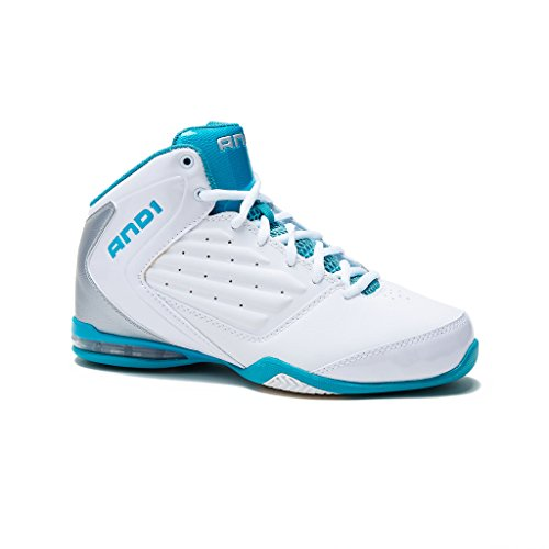 AND1 Womens Master 2 Basketball Shoes 9 White