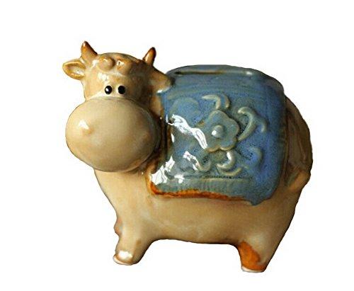 Pastoral Home Furnishing Decor Resin Decoration-Ceramic Storage Tank--Cattle