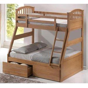 Artisan Oak Three Sleeper Bunk Bed