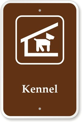 """Kennel (With Graphic) Sign, 18"""" X 12"""" front-1064865"""