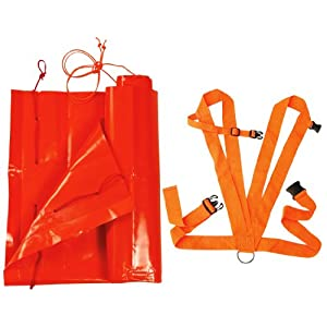 Allen Company Deer Sled - Blaze Orange, w/ Shoulder Harness