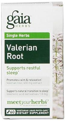 Gaia Herbs Valerian Root, 60 Liquid Phyto-Capsules