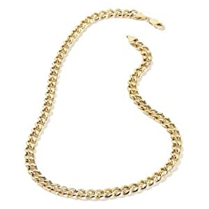 Men's Yellow Gold Plated 6mm Lifetime Warranty Cuban Curb Chain Link Necklace, 18""