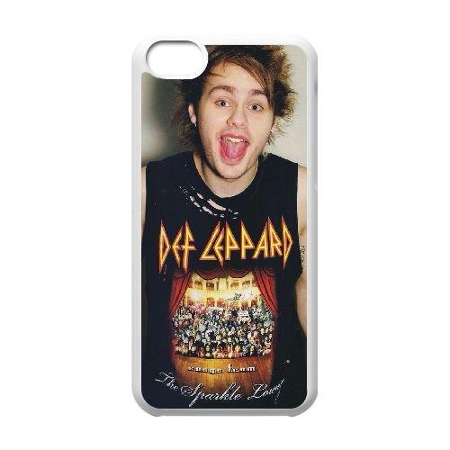Def Leppard Pyromania D0R11J2IY cover iPhone 5c Case White 5L3326