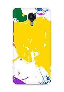 Amez designer printed 3d premium high quality back case cover for Micromax Canvas Xpress 2 E313 (Paint Splatter Colorful)