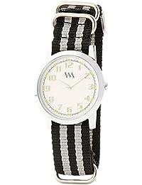 WATCH ME Black Nylon White Dial Watch For Men Black Nylon White Dial Watch For Men Watch MeAL-175