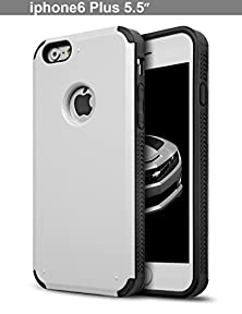 buy Iphone 6S Plus Case, Dhts™ [Double Layer Shock Absorbing] Iphone 6 Plus Credit Card Case / Protective Hybrid Kickst And Case With Card Slot Wallet For Iphone 6 (5.5 Inch) - Silver